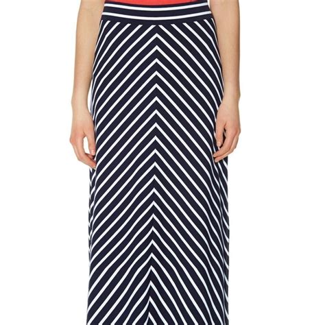 63 the limited dresses skirts navy chevron maxi