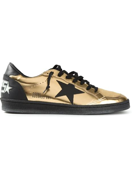 gold sneakers golden goose deluxe brand sneakers in gold for