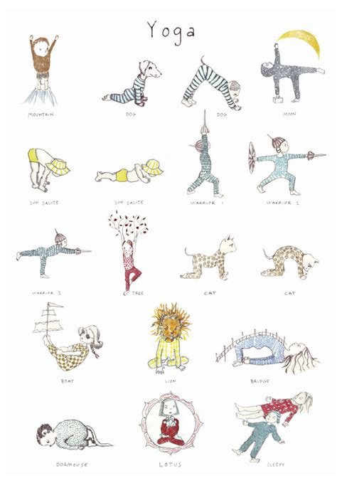 printable yoga poster yoga poses and names for kids newhairstylesformen2014 com