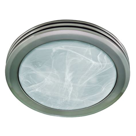Shower Fan Light by Shop Harbor 2 Sone 80 Cfm Brushed Nickel Bathroom