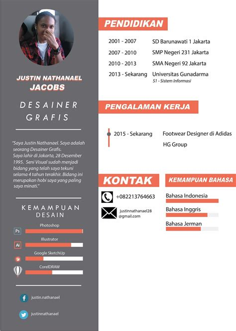 desain grafis english few weird things contoh cv curriculum vitae