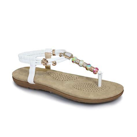 beech sandals lunar jlh708 beech beaded sandal lunar from grs footwear uk