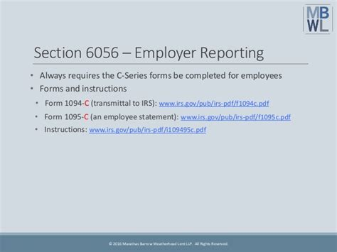 irs section 6056 guide to aca reporting for 2016