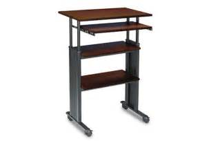simple stand up desk ditch your office chair for a new standing desk wired