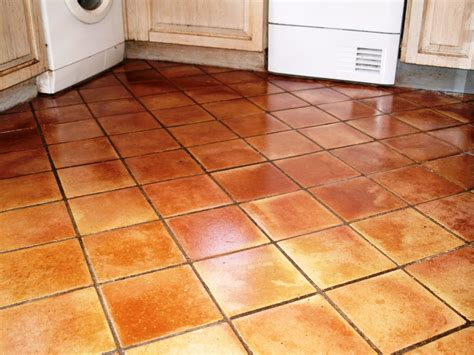 terracotta kitchen tile horrendous terracotta tiled floor restored in