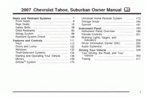 pdf ebook 2007 chevrolet tahoe suburban owners manual and