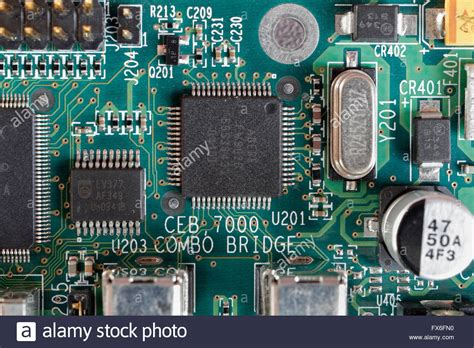 the integrated circuit was used in electronic circuit board integrated circuits ics components stock photo royalty free image