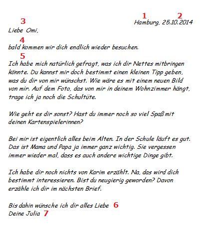 Deutscher Briefvorlage briefe im deutschunterricht
