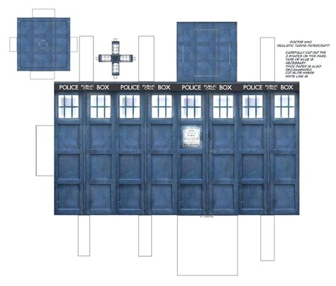 Tardis Papercraft - doctor who tardis papercraft by jailboticus on deviantart