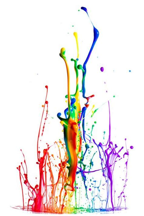 rainbow paint splash colors of the wind
