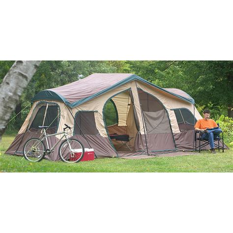 Cabin Tent Sale by Texsport 174 Big Sky 3 Room Family Cabin Tent 172760