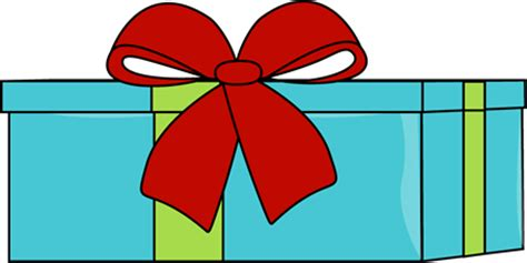 blue christmas gift clip art blue christmas gift image