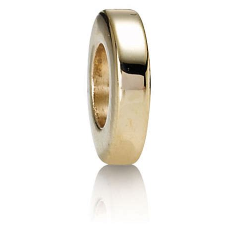 gold spacer retired pandora 14k gold flat spacer spacers 750130