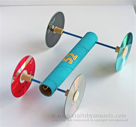 rubber st craft ideas rubber band powered car via crafts by amanda crafts