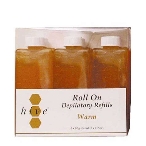 Depilatory Honey Wax hive roller depilatory refills warm honey wax 80g x 36