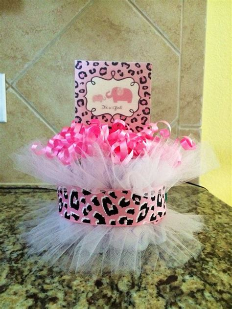 Cheetah Baby Shower Centerpieces by Pink Cheetah Print Cake Baby Shower Centerpiece I