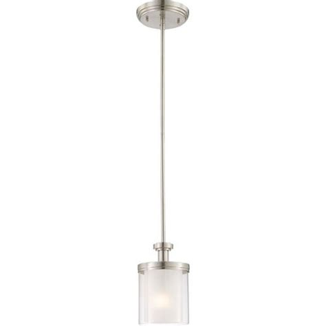 Brushed Nickel Pendant Lighting Kitchen Nuvo Lighting Decker Brushed Nickel Mini Pendant W Clear Frosted Glass Minis The And