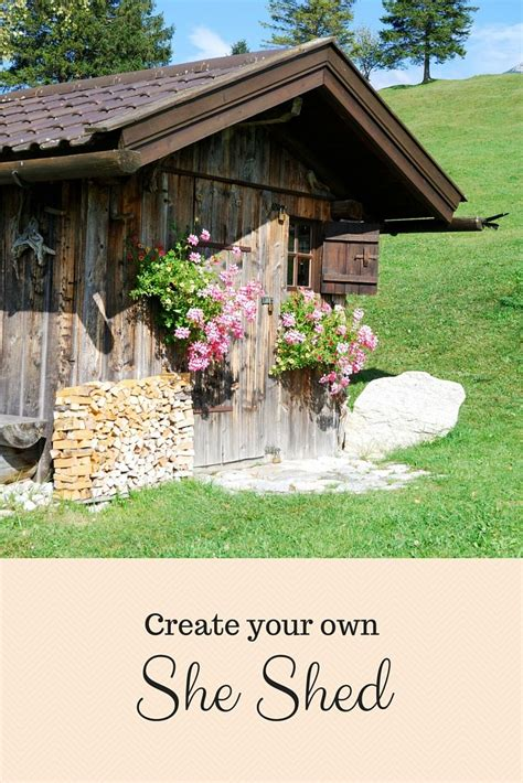 create    shed craft room inspiration