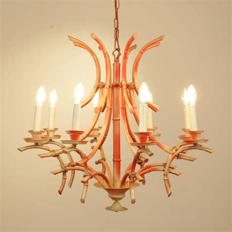 Pagoda Chandelier Vintage Italian Faux Bamboo Chippendale Style Pagoda Chandelier At 1stdibs