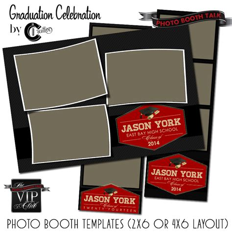 photo booth template psd graduation celebration photo booth talk
