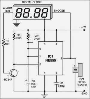 auto snooze  digital alarm clocks electronic circuits