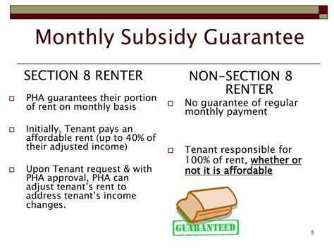 section 8 housing subsidy ppt section 8 housing choice voucher program landlord