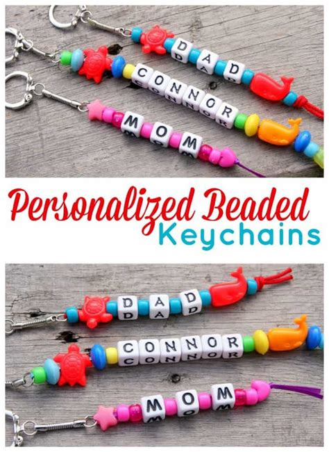 how to make beaded keychains for personalized beaded keychains