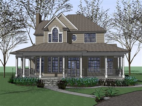 farm house plans with wrap around porches fashioned