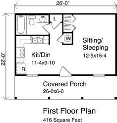 1000 Images About Little House On Pinterest Cottage 20 X 26 House Plans
