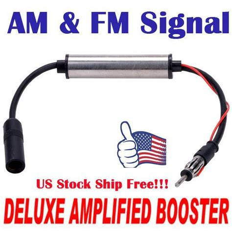 1pcs deluxe inline car antenna radio am fm signal lifier booster s0bz ebay