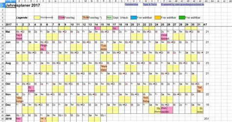 Kalender 2016 Jahresplaner Jahresplaner Excel Freeware De