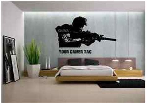 call of duty style sniper gamer tag ps3 xbox wall