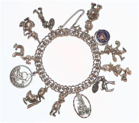 walt disney vintage sterling silver charm bracelet donald