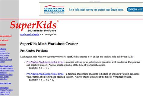 Pre Algebra Worksheets