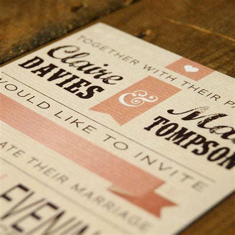 Quality Card For Wedding Invitations by Vintage Poster Wedding Invitation Feel Wedding