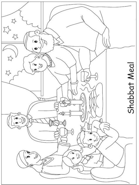 shabbat coloring pages printable sketch coloring page
