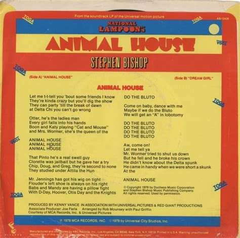 animal house soundtrack animal house soundtrack 28 images original soundtrack national loons animal house