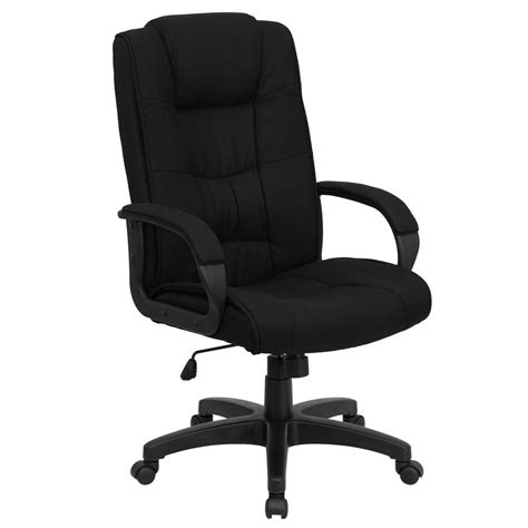 High Desk Chair by Flash Furniture High Back Black Fabric Executive Swivel