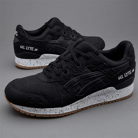 sepatu sneakers asics tiger gel lyte iii oxidised black