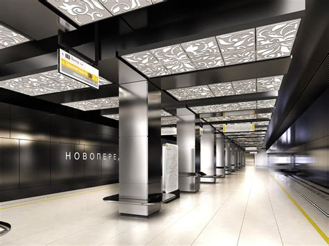 gallery of u r a chosen to redesign moscow s novoperedelkino subway station 8