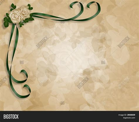 backdrop border design soft roses parchment wedding image photo bigstock