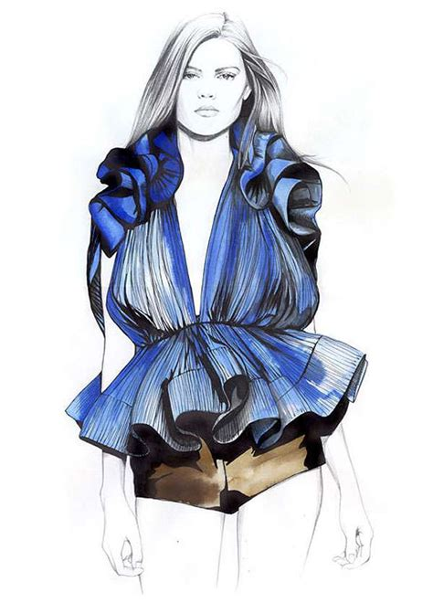 fashion illustration uses penciled fashion illustrations caroline andrieu