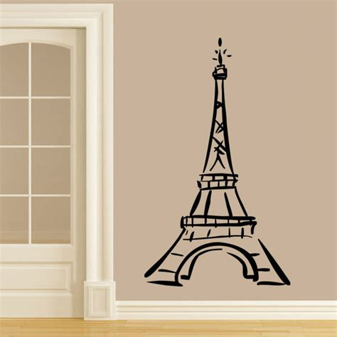 wall stickers eiffel tower vinyl wall decal ah ohh la la wall decal