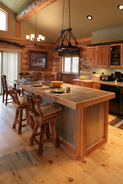 kitchen island metal best 25 log cabin kitchens ideas on pinterest log home