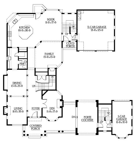 unique one story floor plans u shaped home with unique floor plan hwbdo64049 new