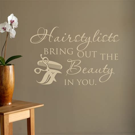 bring home the style of beauty and the beast with le hairstylists bring out the beauty in you wall decal quote