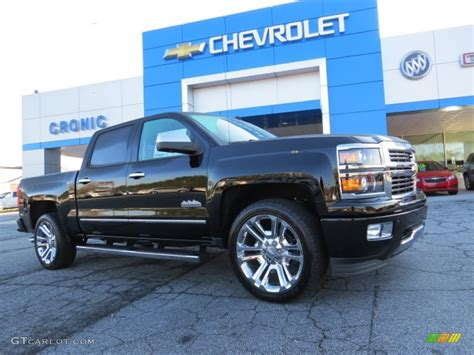 2014 silverado colors 2014 black chevrolet silverado 1500 high country crew cab
