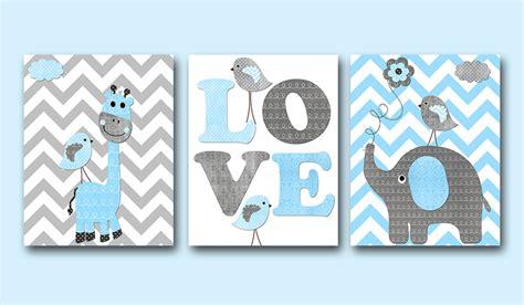 boy nursery art elephant giraffe baby boy nursery art print childrens wall art
