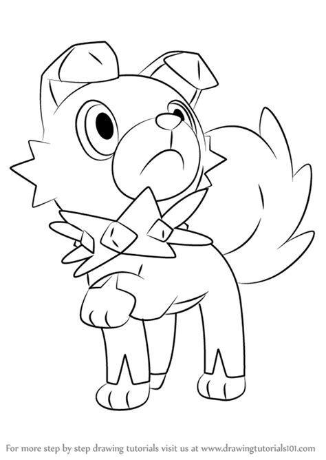 moon rock coloring page learn how to draw rockruff from pokemon sun and moon