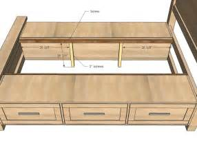 King Size Bed Frame Project King Size Bed Frame Plans With Storage Woodworking